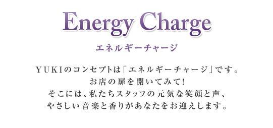 コンセプト 「エネルギーチャージ」